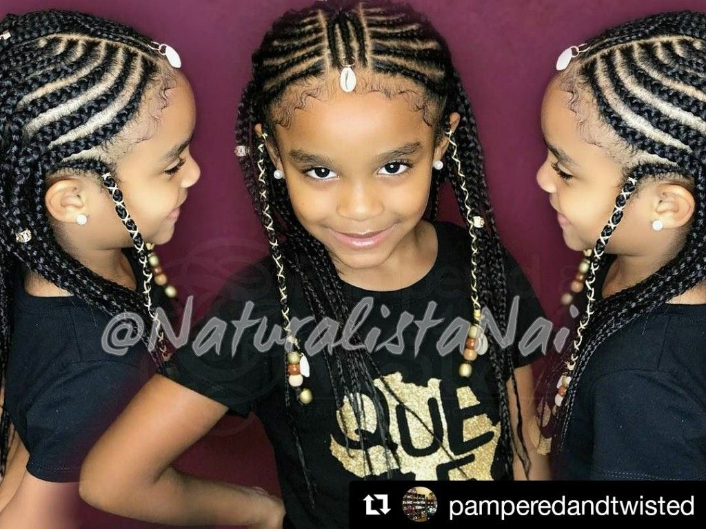 Cutie with Tribal braids #beads #seashells #braids # ...