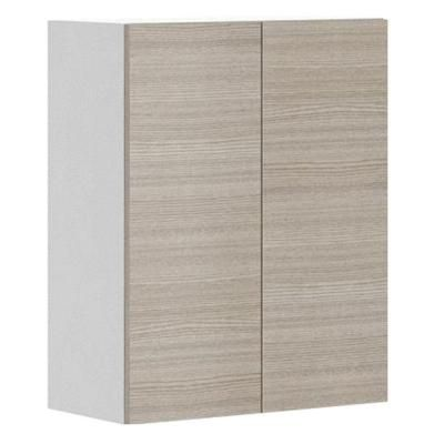 Eurostyle 24x30x12 5 In Geneva Wall Cabinet In White Melamine And Door In Silver Pine W2430 W Genev The Home Depot Wall Cabinet Melamine Cabinets Eurostyle