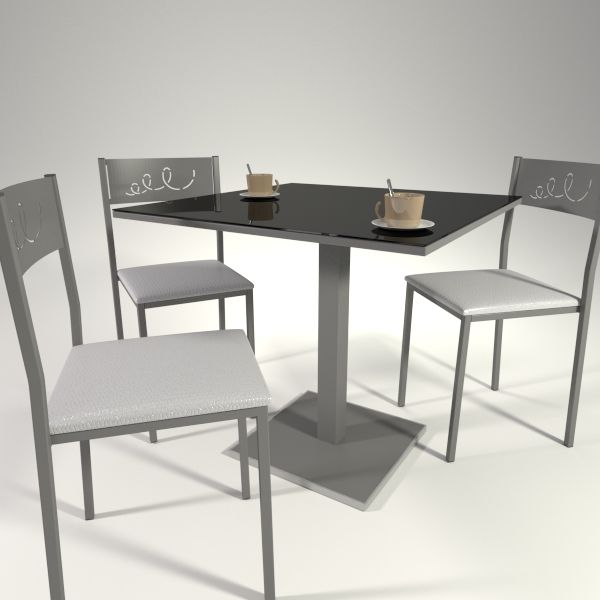 Juego de mesas y sillas en blanco y negro ideal para for Juego de mesa y sillas para cocina