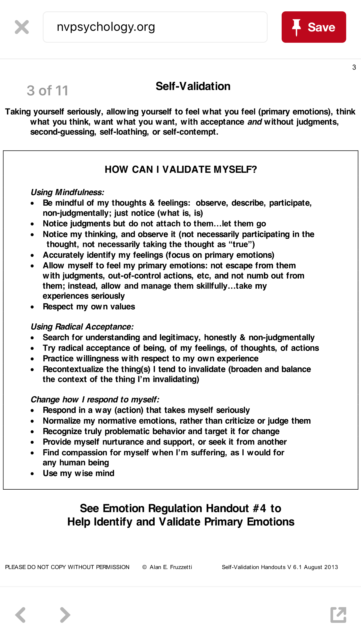 Validation Handout