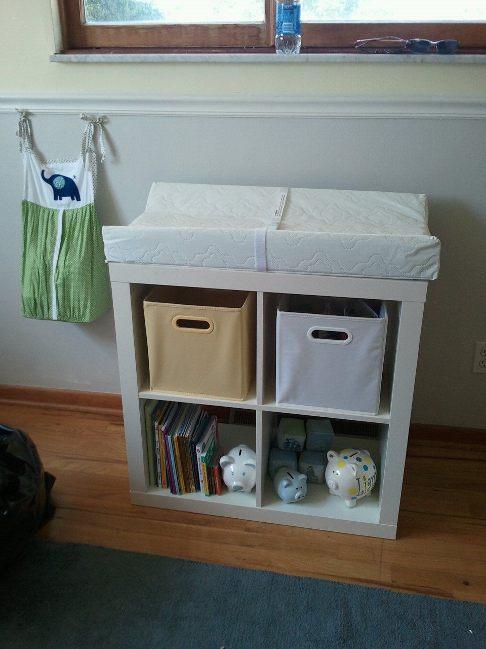 ikea shelf changing table | preschool: environment | pinterest