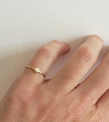 Moon At Hand Gold Ring