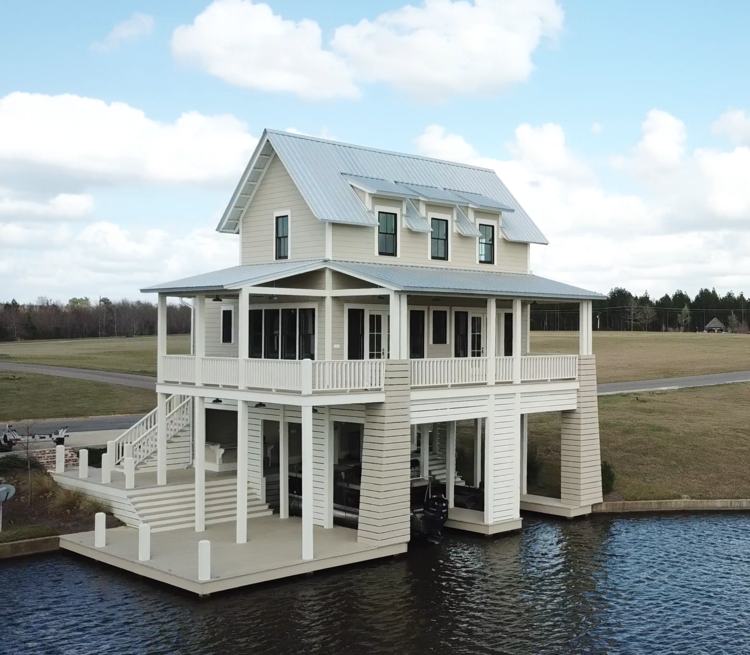 Water Valley Boathouse Lake Land Studio Lake Houses Exterior Lakefront Living House Exterior