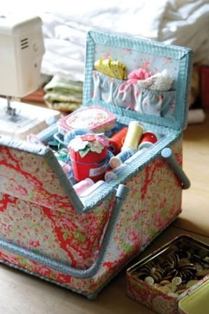 Cath Kidston Sewing Basket- Someday!! I love CK style and happy ...