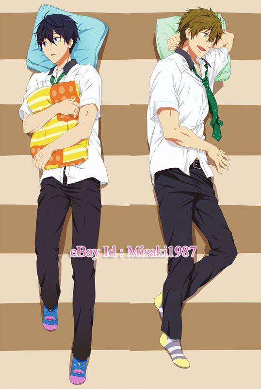 Free Dakimakura Rin Matsuoka Makoto Tachibana Anime Hugging Body Pillow Case