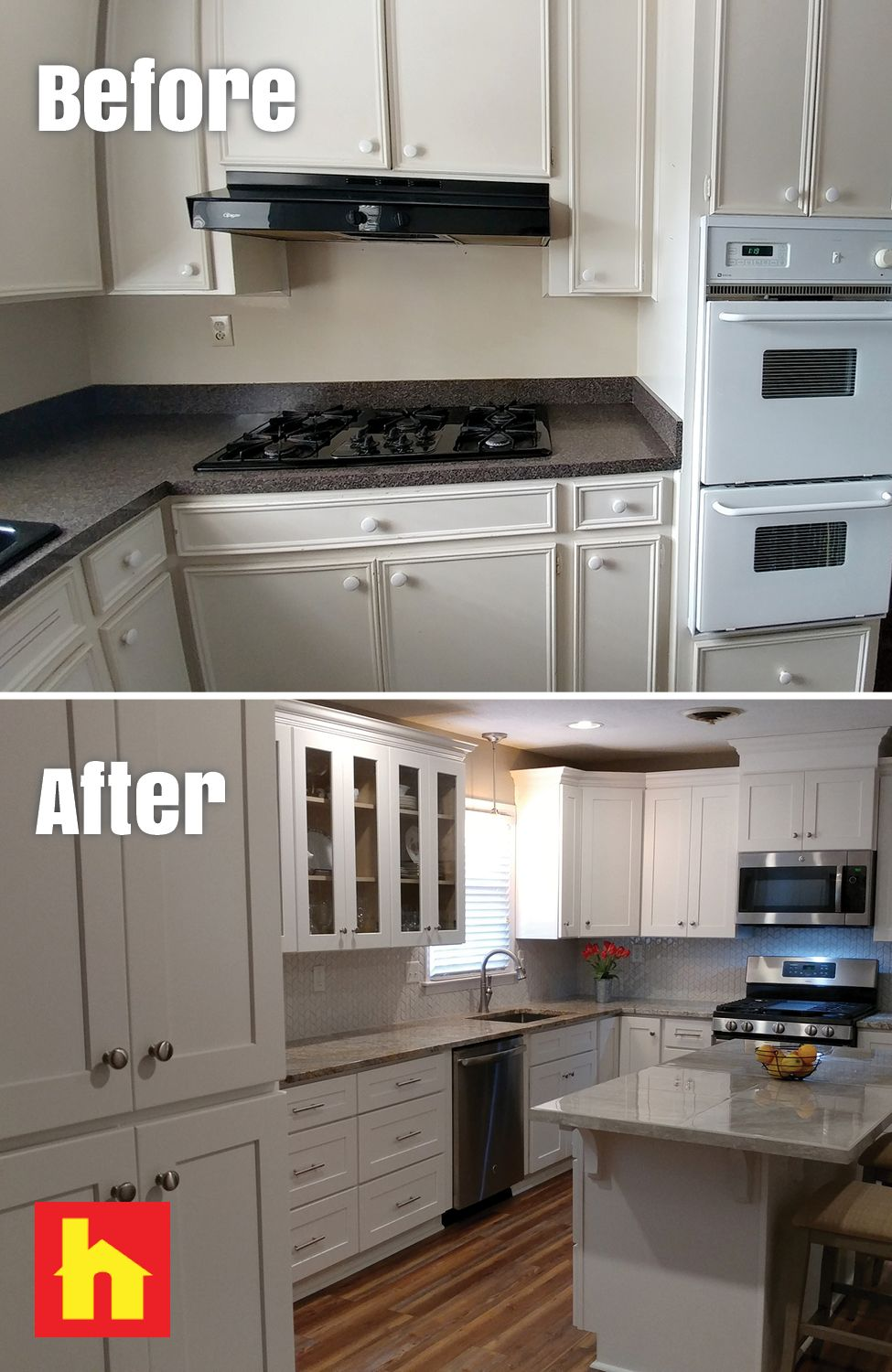 Kitchen Remodel With Before And After Picture Kitchen Remodel Kitchen Before After Home