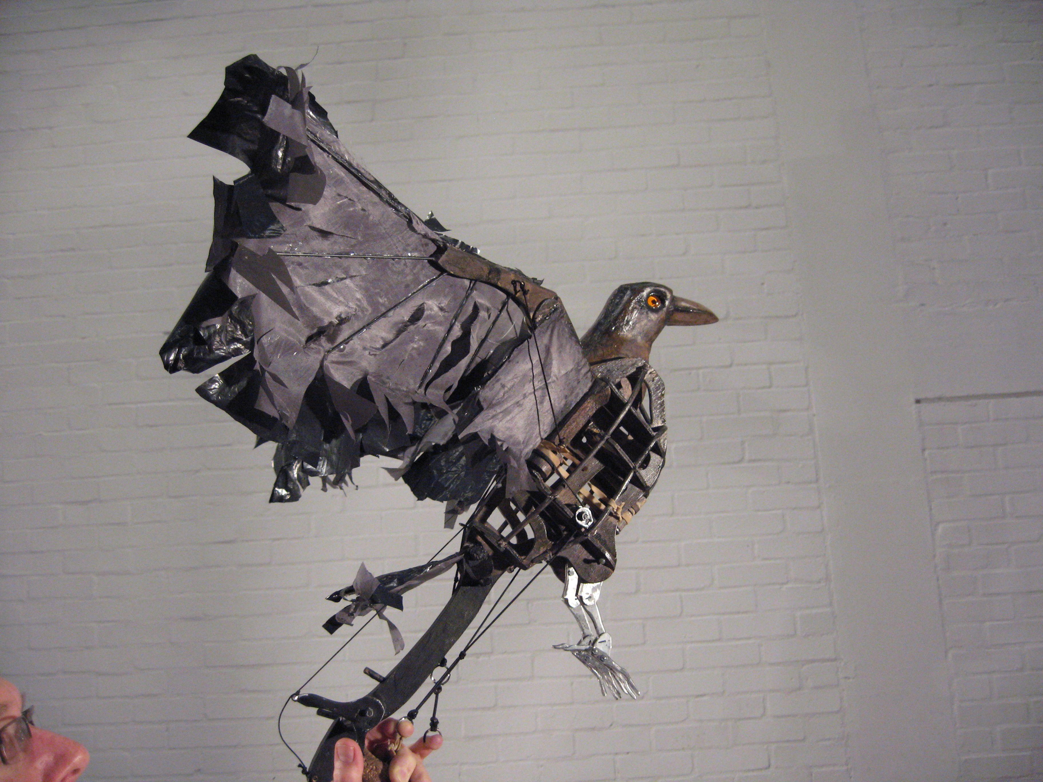 crow from warhorse Bird puppet, Puppets, Puppet making