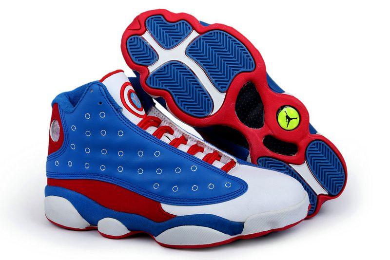 blue white red jordans
