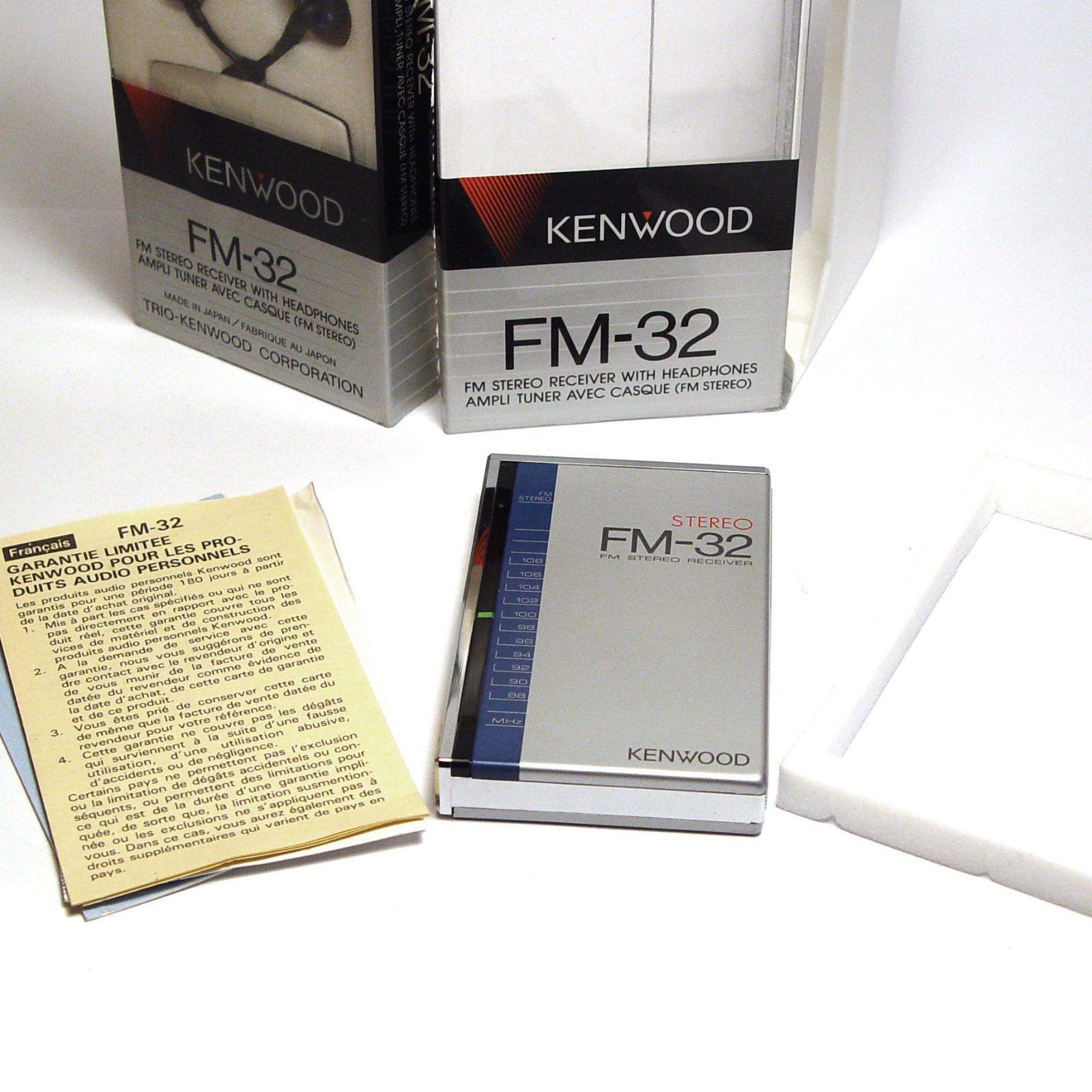 Rare Kenwood Trio Fm 32 Pocket Stereo Radio Early 1980s Nos