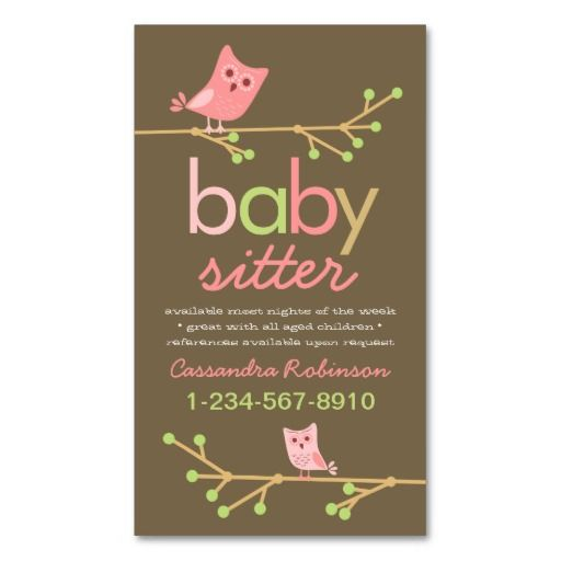 Babysitting Or Household Chores Business Card Zazzle Com In 2021 Babysitting Quotes Babysitting Babysitting Flyers