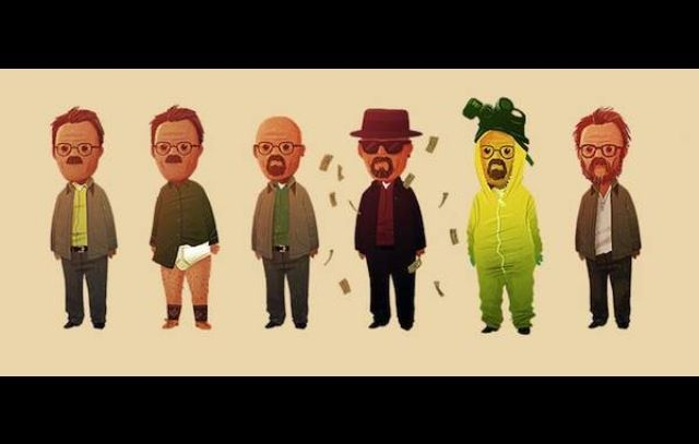 Evolution of Walter White haha