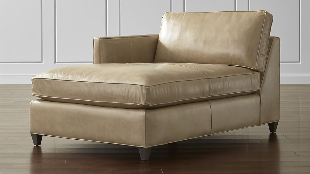 Dryden Leather Left Arm Chaise Lounge + Reviews | Crate and Barrel ...