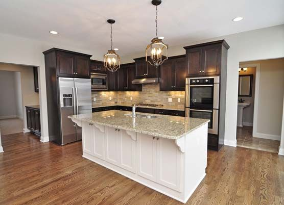 Photo Gallery Luxury Custom Homes In Mn Gonyea Homes Kitchen Colour Schemes Dark Kitchen Cabinets Popular Kitchen Colors