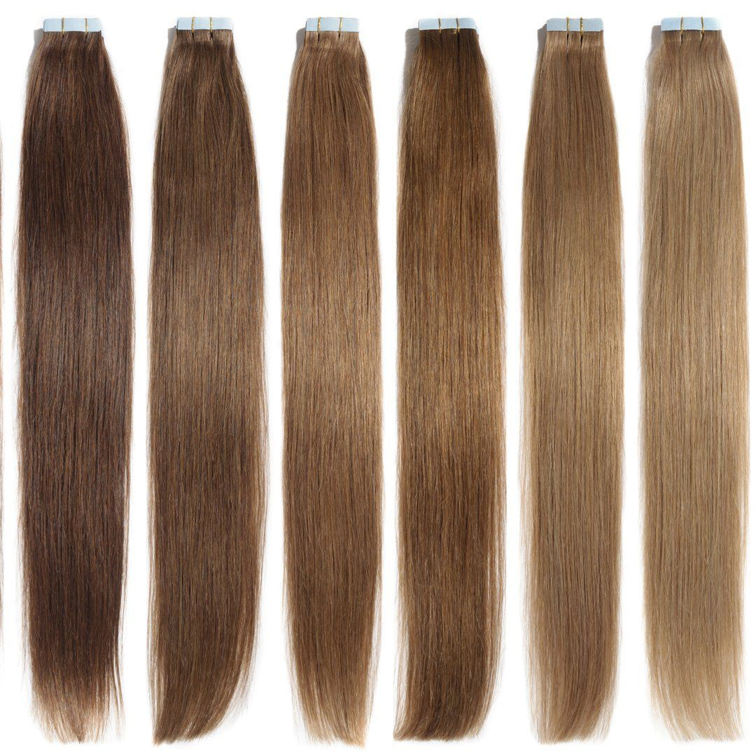 100 Remy Tape In Hair Extensions 22 Inches In Length Best Prices