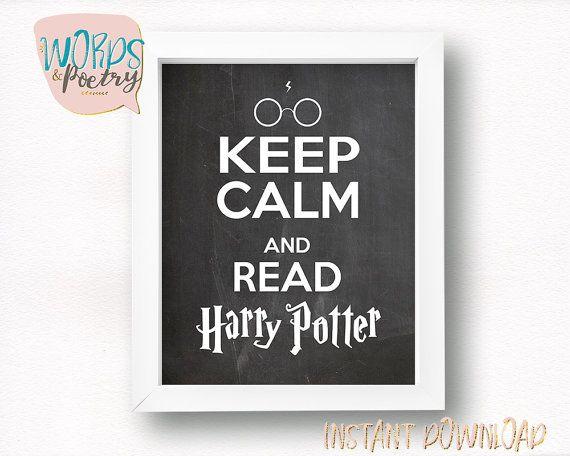 Keep Calm e leggi Harry Potter. Harry Potter poster. Stampa Harry Potter. Harry…