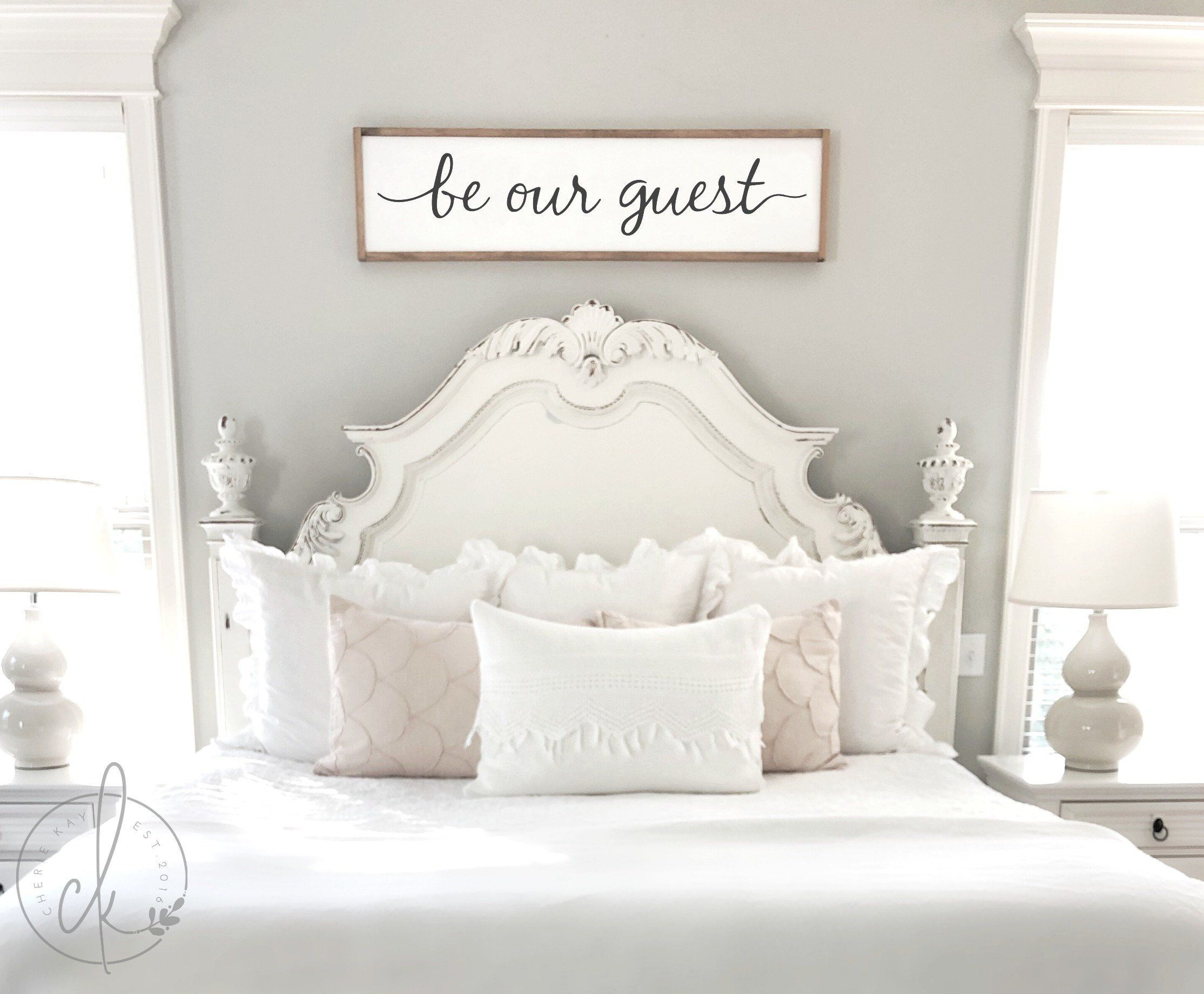 Guest room decor be our guest sign framed sign home wall  Etsy