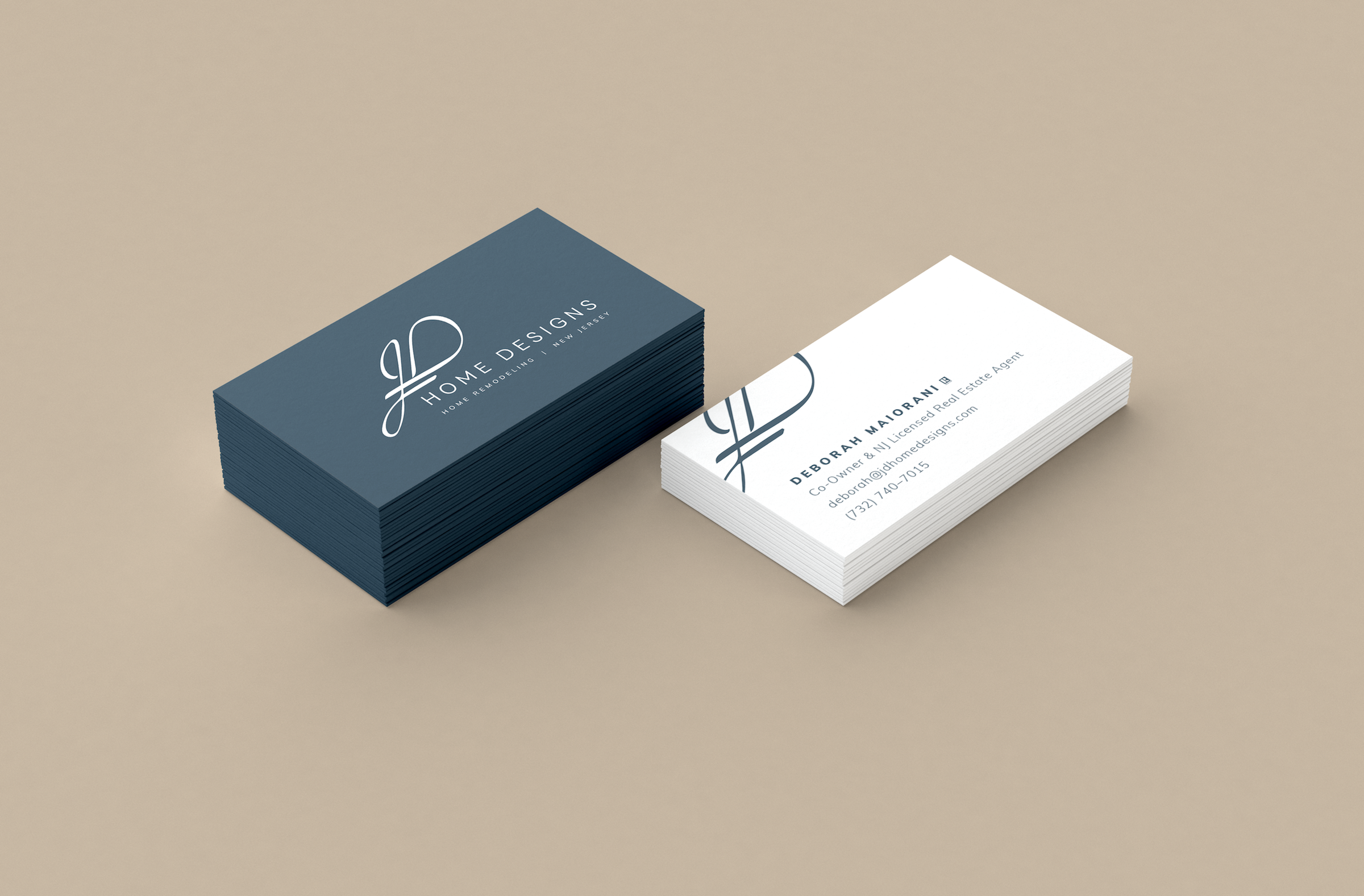 JD Home Designs Business Cards | by Treadaway Co. Design | — Brand ...