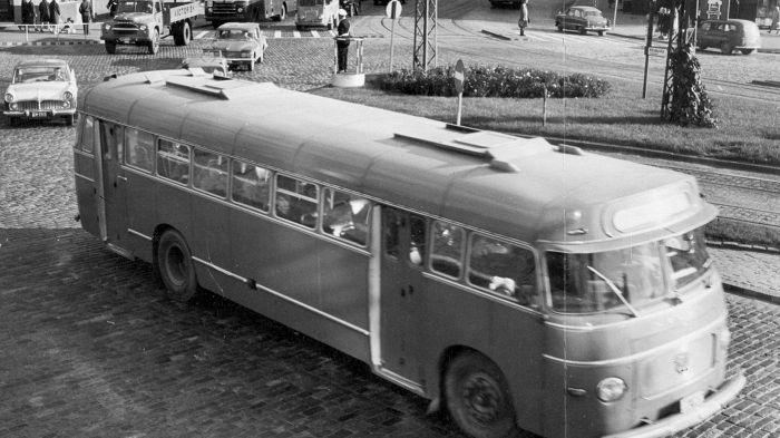 Hämeentien alkupää 1960-luvulla.