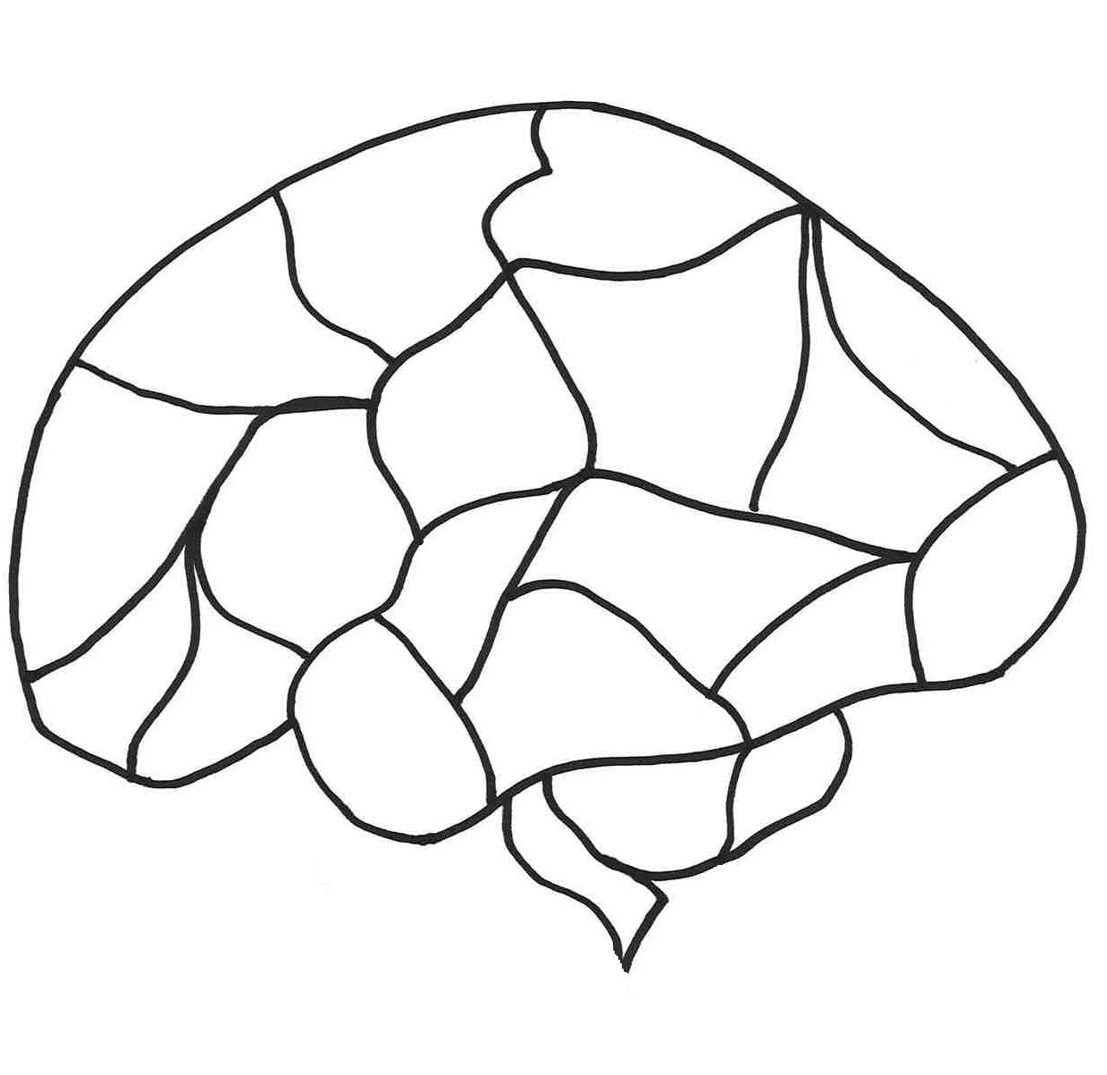It's just a photo of Juicy Printable Brain Template
