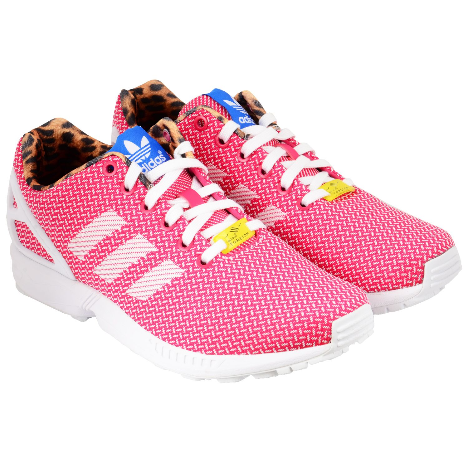on sale 124aa 0bb60 ... closeout adidas shoe womans zx flux weave basse chaussures rose blanc  ff67a 0c54f