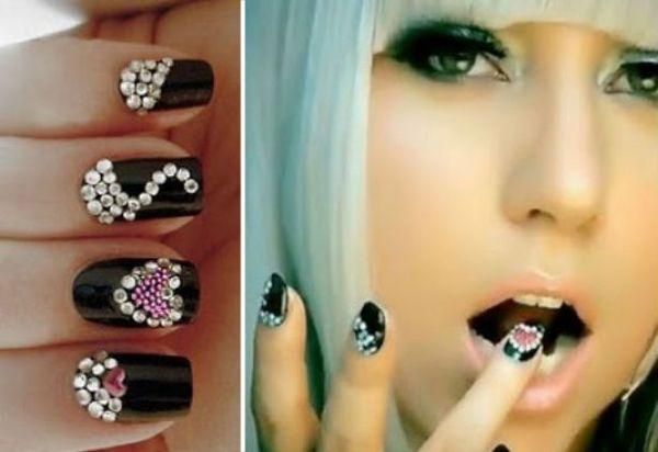 Lady Gaga Incrustaciones Uñas