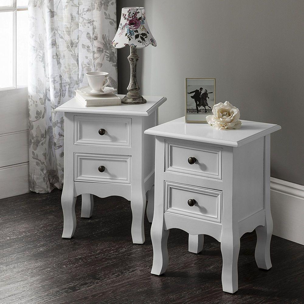 Windsor Bedside Table Nightstand Double Set Of Two Table De Chevet Blanche Table De Chevet Table De Chevet Bois Set of two night stands