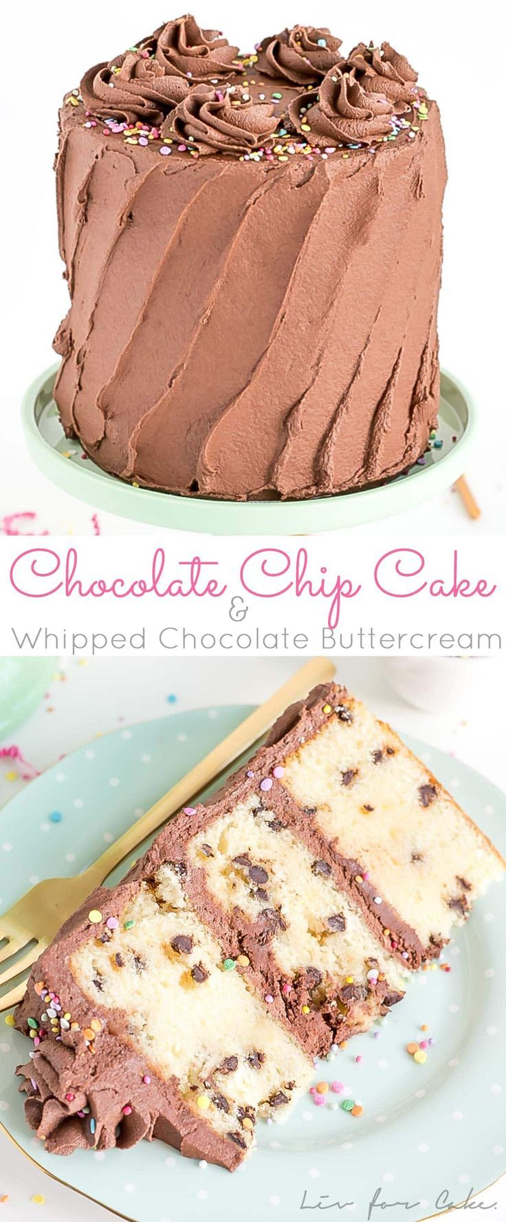 Chocolate Chip Cake With Whipped Chocolate Buttercream Recipe