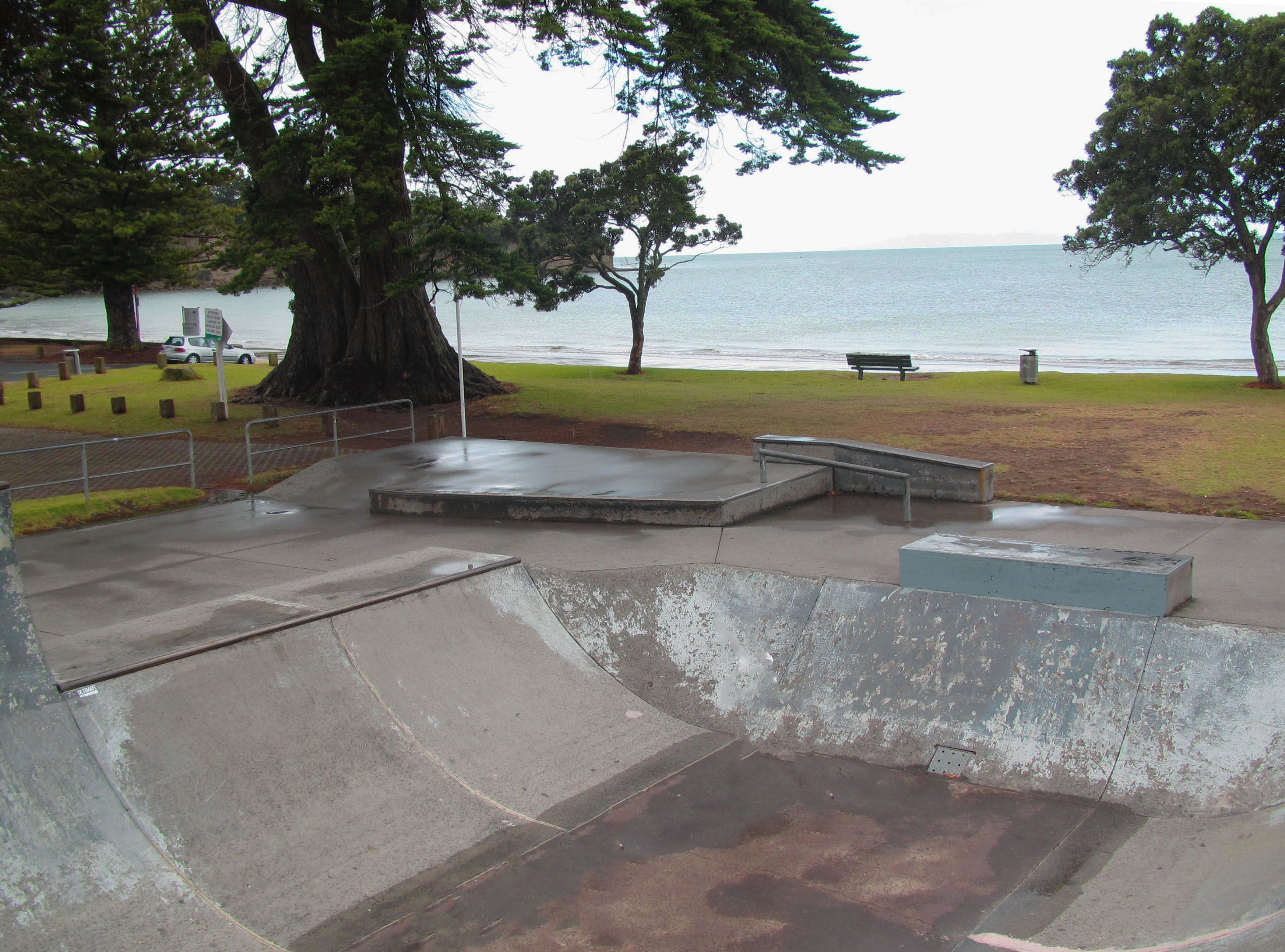 The local skate park on Browns Bay