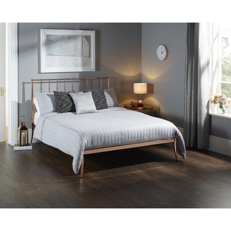 Saturn Rose gold bed frame Worldstores Co