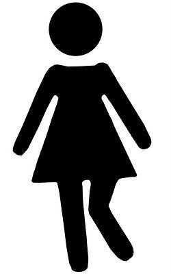 vinyl bathroom stick figure girl gotta go svgs fonts digital rh pinterest com