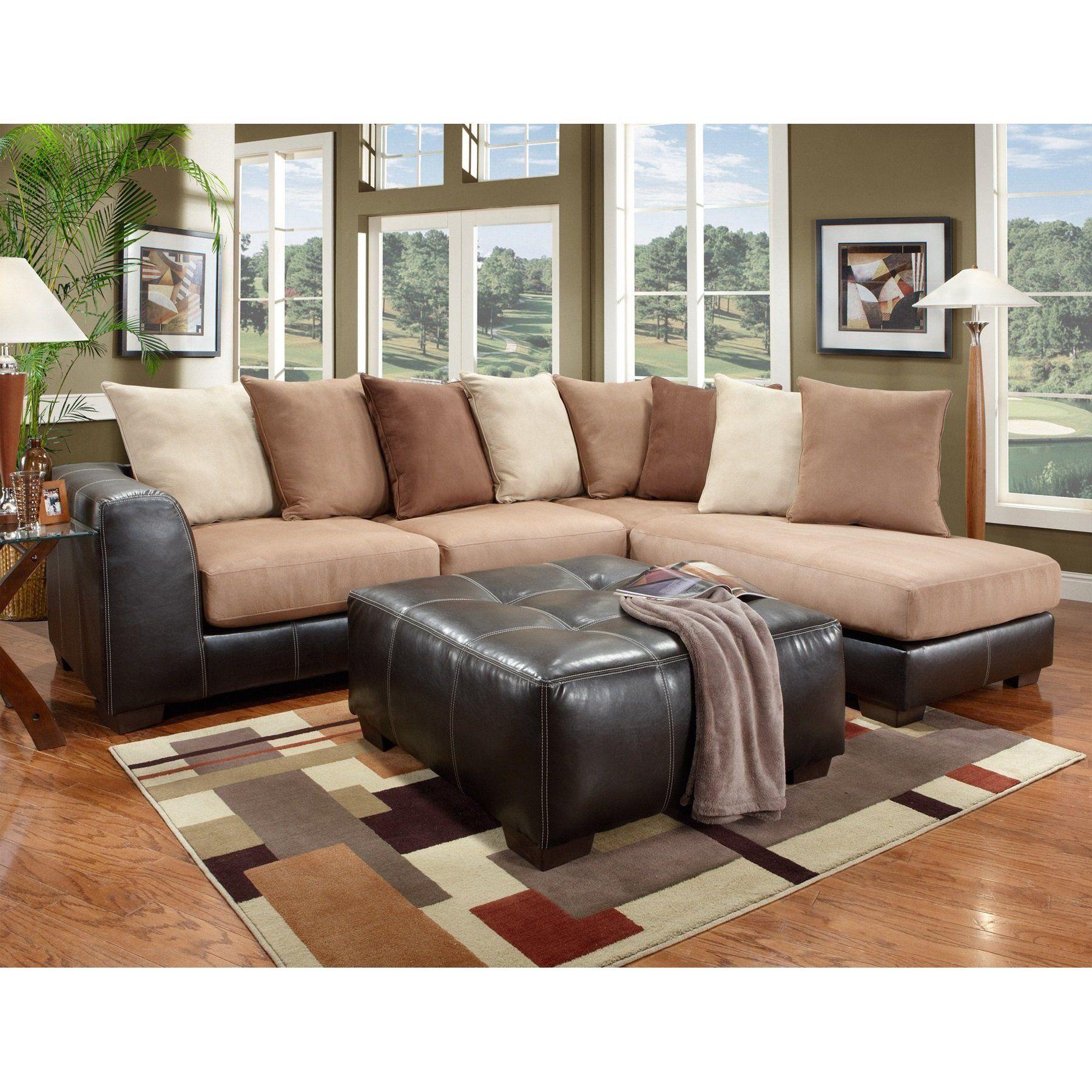 furnituremaxx laredo mocha sectional sofa with brown ottoman sofas rh pinterest com