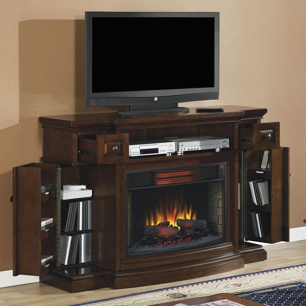 memphis infrared electric fireplace media console 32imm4787 c247 rh pinterest com