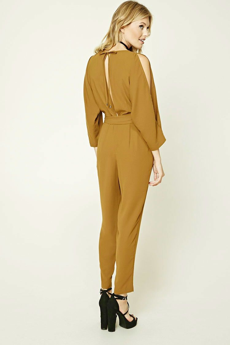 Contemporary Vented Jumpsuit Forever 21 2000193042 Jumsuit