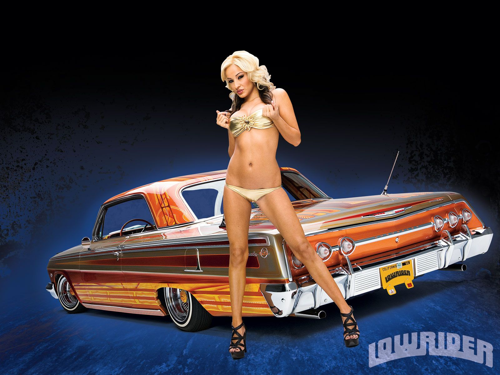 Hot girls and lowriders, thong bikini pictures