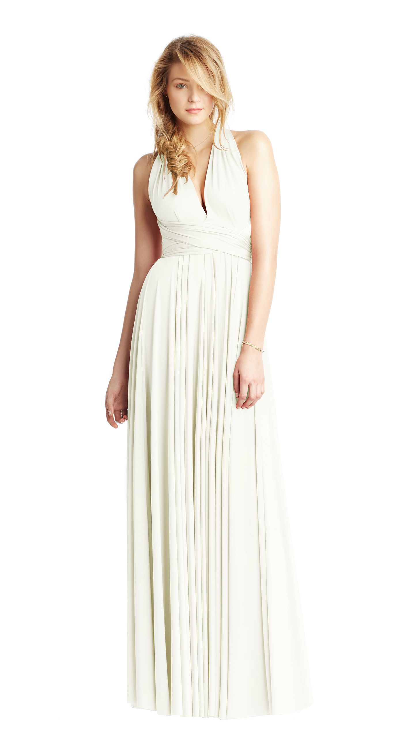 Purity (white/ivory) twobirds ballgown | Multiway, convertible wrap ...