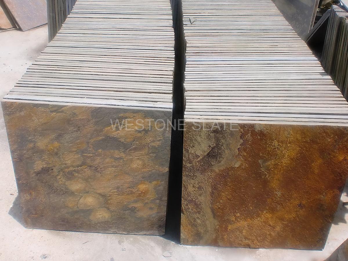Rust Riven Slate Tiles, Copper Rust Slate Is Natural Split Face Slate,  Application For