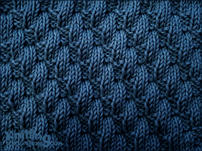 Left Diagonal Pattern Knit And Purl Stitch Combinations Knitting