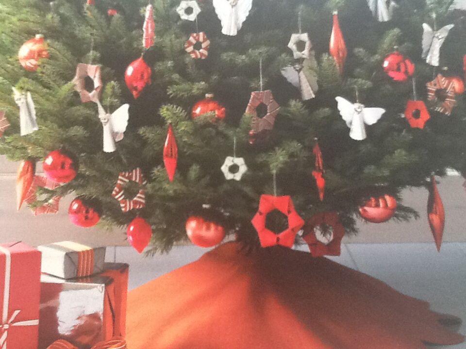 Christmas tree skirt and ornaments Holidays Pinterest Tree