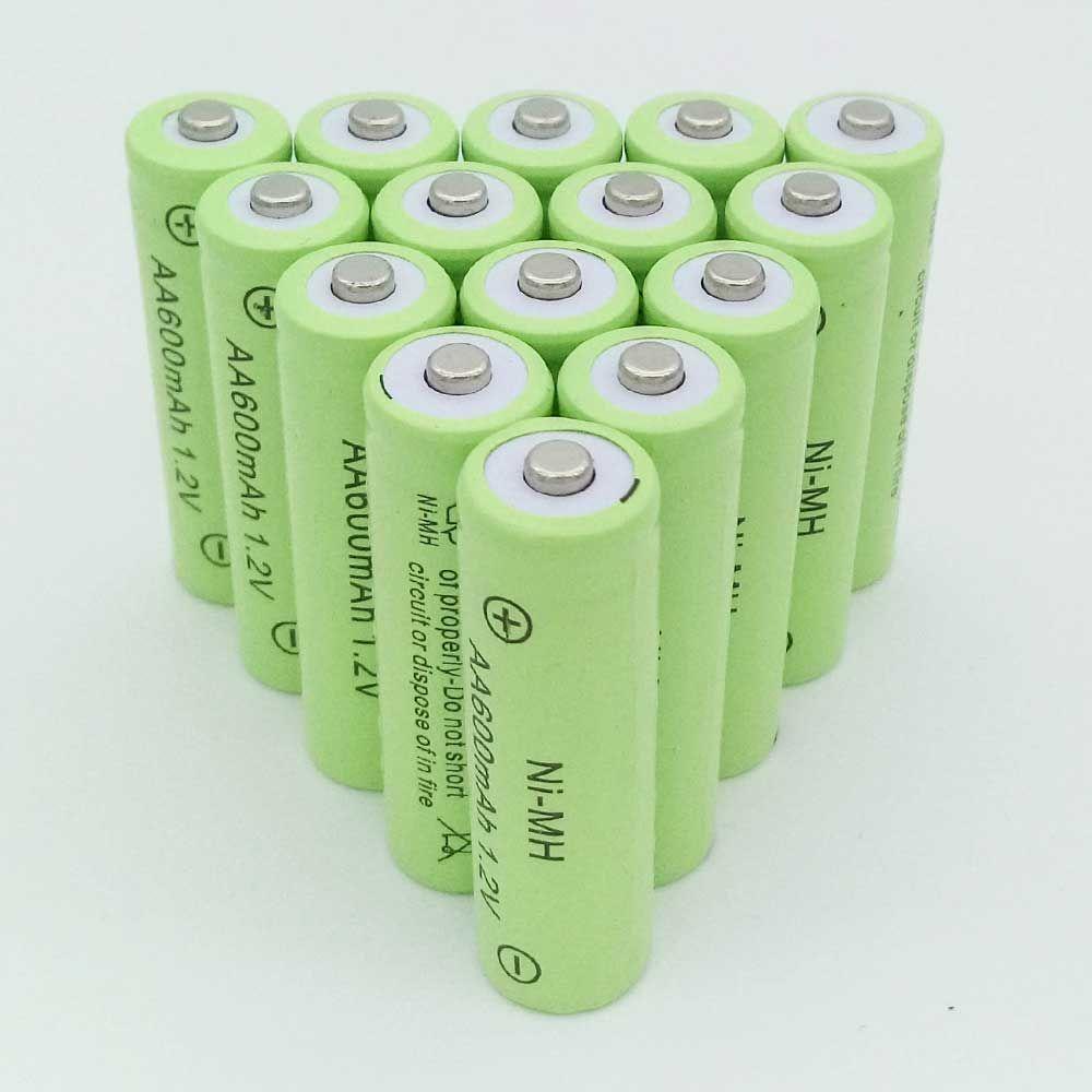 Oolapr 10xaa Battery New Original 600mah 1 2v Nimh Rechargeable Battery Free Shipping Rechargeable Batteries Nimh Battery Free