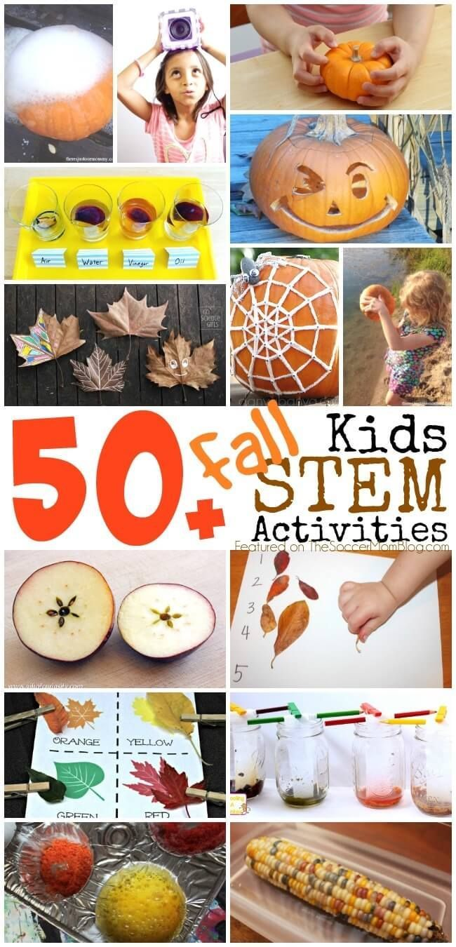 50+ Fall STEM Activities for Kids #stemactivitieselementary