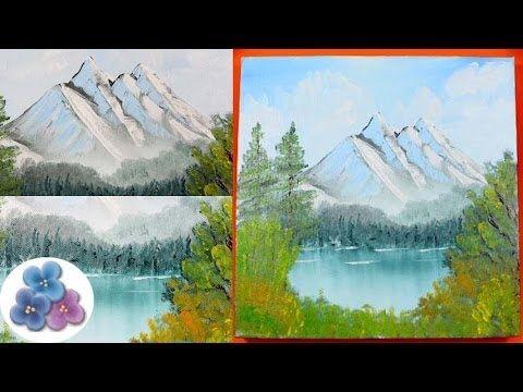 pintura al oleo como hacer paisaje nevado facil oil painting paisajes para pintar pintura