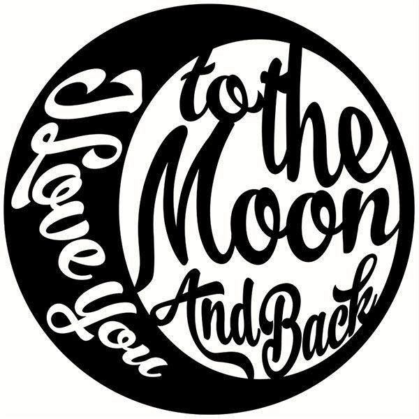 Download Love You to the Moon Cuttable Design | For morganne ...