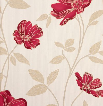 Floral Rojo #wallpaper #decoration #home