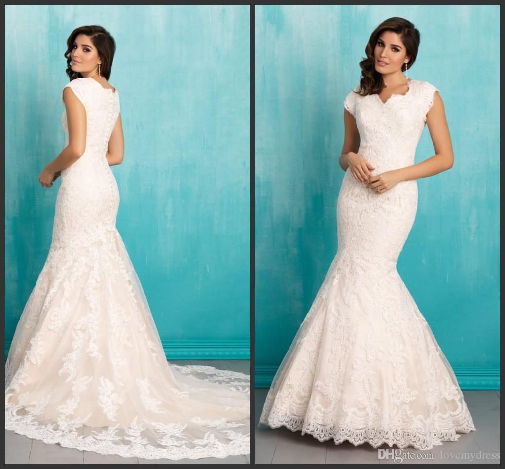 Short Sleeve Square Neck Dress Elegant Slim Covered Bottons Charming ...