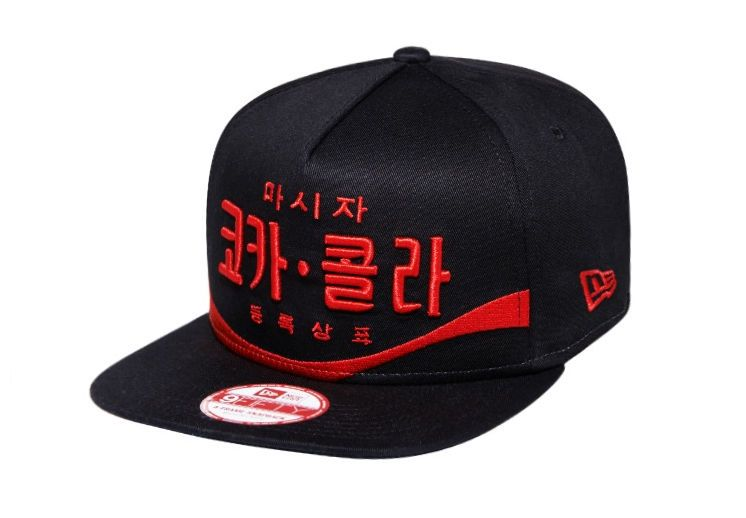 bf63dc828d7 New Era Authentic Coca Cola Coke 9Fifty Limited Snapback Hat Black Korea  Hangul  NewEra9Fifty  BaseballCap