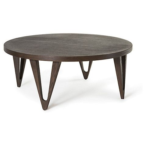 Hudson 42 Round Coffee Table Tobacco 865 00 With Images