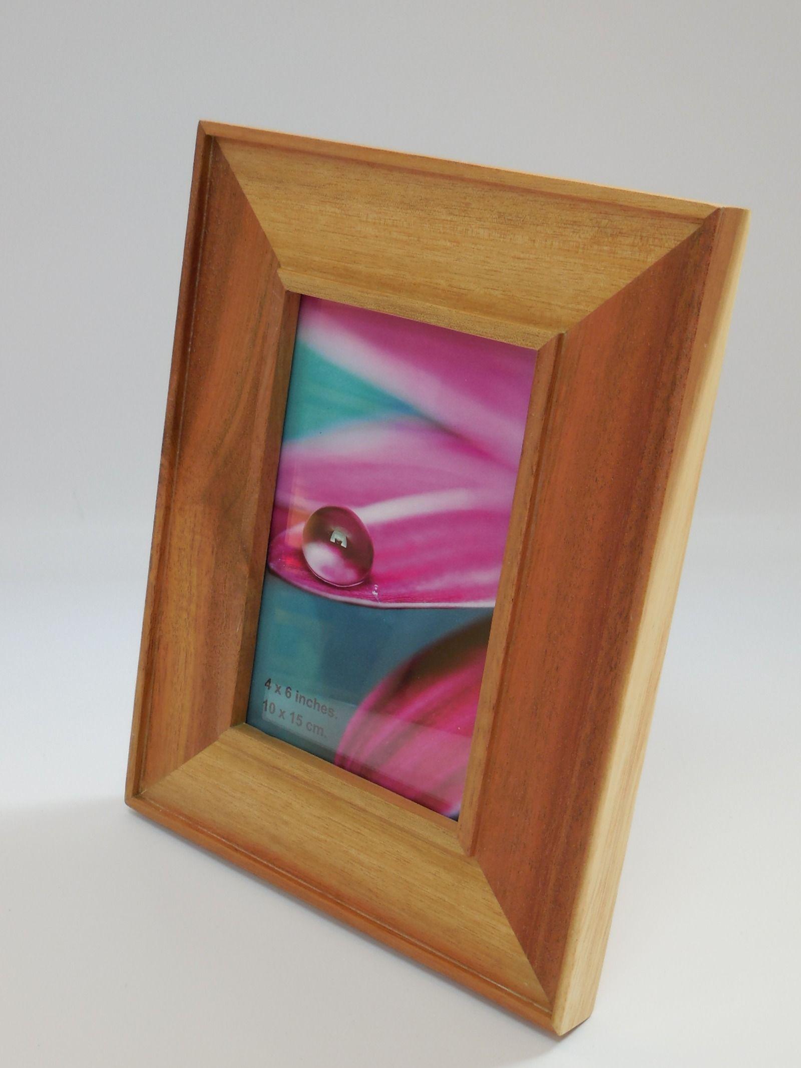 Wood Picture Frame Wooden Photo Frame Natural Wood Frame Square Picture Frame Solid Wood Frame Custom Frame Tabletop Frame Hardwood By Frasastyle On Etsy