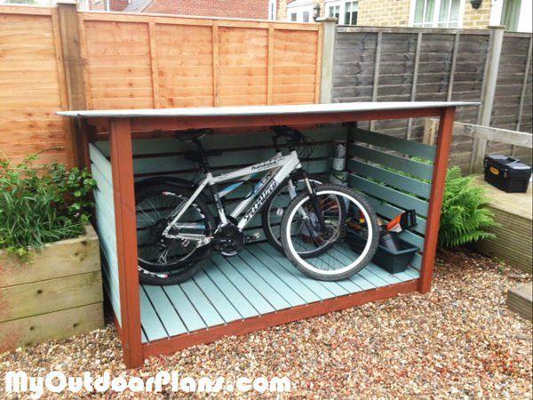 Diy Bike Shed Bike Shed Diy Shed Outdoor Bike Storage