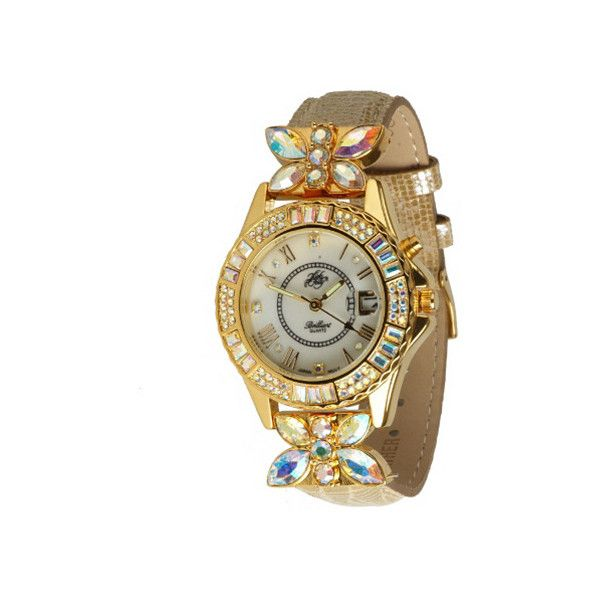Kirks Folly Brilliant Butterfly Light-Up Watch ($66) ❤ liked on Polyvore featuring jewelry and watches