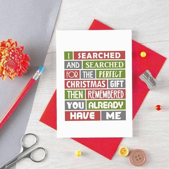 Funny Christmas Card For Wife Christmas Gift For Husband